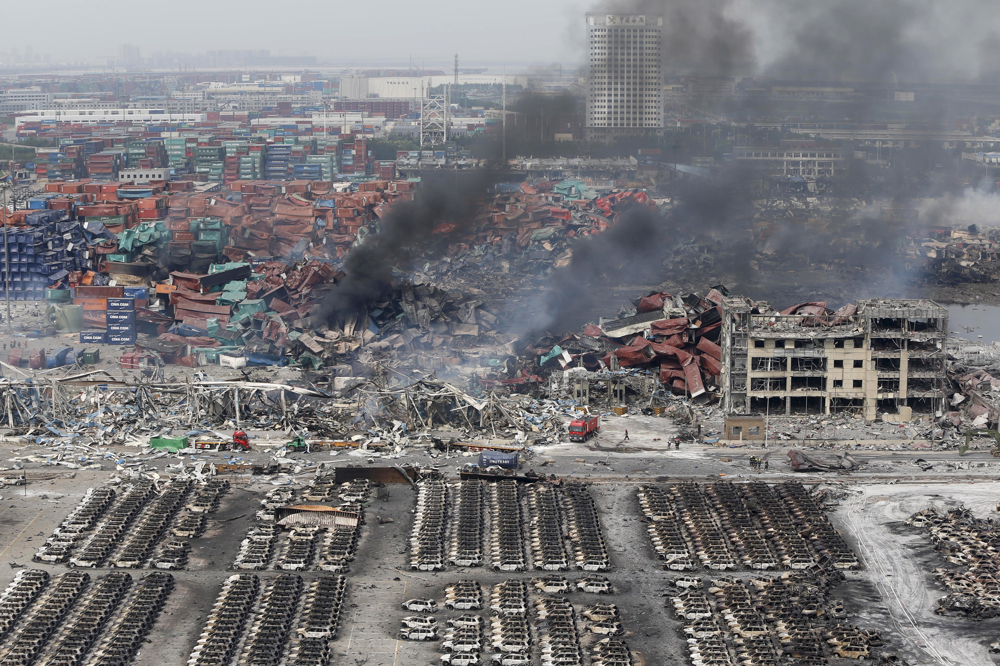 IN PHOTOS: Devastation of Tianjin