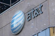 The AT&T logo in an undated photo. REUTERS/Handout