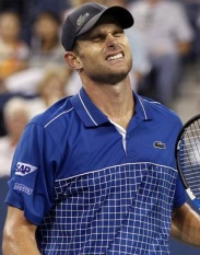Andy Roddick of the U.S. reacts to a point in the fourth set of his match against Janko Tipsarevic of Serbia during the U.S. Open tennis tournament in New York September 1, 2010. REUTERS/Shannon Stapleton