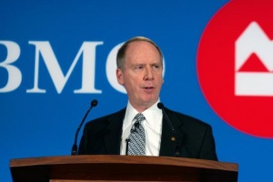 Bank of Montreal (BMO) Financial Group President and Chief Executive Officer Bill Downe addresses shareholders at the annual general meeting in Winnipeg, Manitoba March 23, 2010. REUTERS/Fred Greenslade