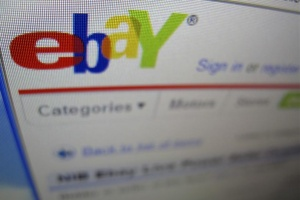A photograph of a computer screen showing the website eBay is shown in Encinitas, California April 22, 2009. REUTERS/Mike Blake