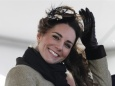 Kate Middleton, the fiancee to Britain's Prince William, smiles during a Naming Ceremony and Service of Dedication for the Royal National Lifeboat Institution's (RNLI) new Atlantic 85 Lifeboat, the 'Hereford Endeavour', at Trearddur Bay Lifeboat Station, in Trearddur Bay, Anglesey in north Wales February 24, 2011.  REUTERS/Phil Noble