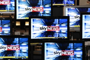 The Sky News logo is seen on television screens in an electrical store in Edinburgh in this March 3, 2011 file photo.   REUTERS/David Moir/Files