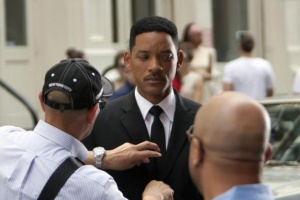 Will Smith on the set of 'Men In Black Three'.  REUTERS/Andrew Kelly