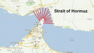 Screengrab of a graphic showing a map of the Straight of Hormuz. REUTERS/Reuters Insider