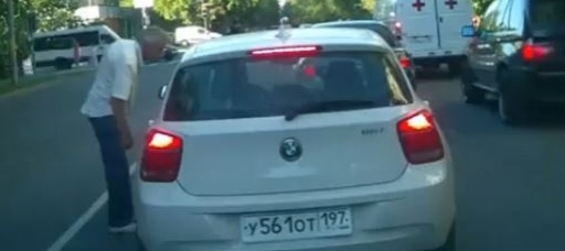 Video of Russian driver running over man after argument