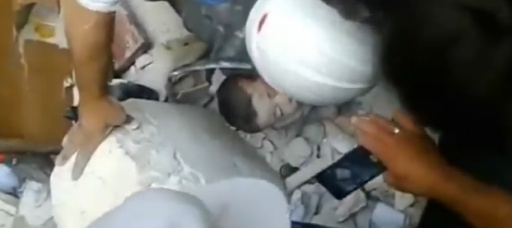 Dramatic rescue of baby in Syria