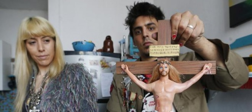 Barbie used in religious art