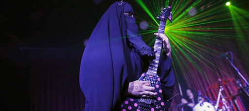 Heavy metal Muslim seeks acceptance of her burka