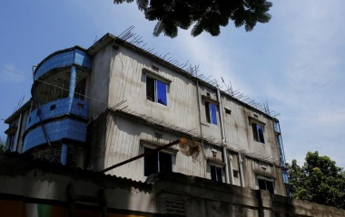 View of a house where police says militants were killed after a gunbattle on the outskirts of Dhaka, Bangladesh, August 27, 2016. REUTERS/Mohammad Ponir Hossain