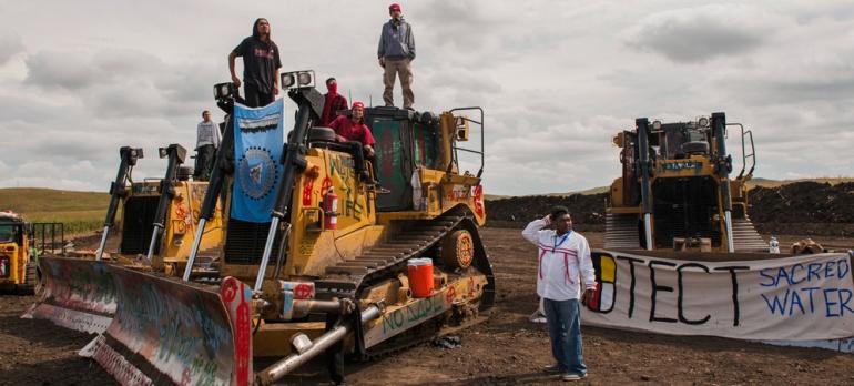 SLIDESHOW: Inside the North Dakota pipeline protest