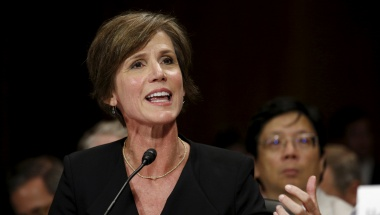 """FILE PHOTO - U.S. Deputy Attorney General Sally Quillian Yates testifies during a Senate Judiciary Committee hearing on """"Going Dark: Encryption, Technology, and the Balance Between Public Safety and Privacy"""" in Washington July 8, 2015. REUTERS/Kevin Lamarq"""