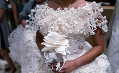 Winning toilet paper gowns offered to brides-in-need