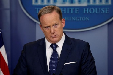 White House spokesman Sean Spicer out