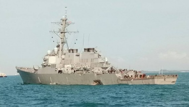 U.S. warship collides with tanker, 10 sailors missing