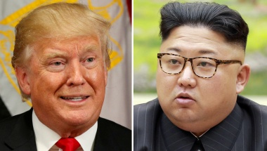 A combination photo shows U.S. President Donald Trump in New York, U.S. Sept 21, 2017 and North Korean leader Kim Jong Un in this undated photo released by North Korea's KCNA in Pyongyang, Sept 4, 2017. REUTERS/Kevin Lamarque, KCNA/Handout via REUTERS