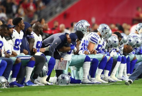 Cowboys, Cardinals link arms amid anthem protests