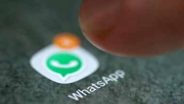 FILE PHOTO: The WhatsApp app logo is seen on a smartphone in this picture illustration taken September 15, 2017. REUTERS/Dado Ruvic/Illustration/File Photo