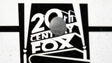 The Twenty-First Century Fox Studios logo is seen in Los Angeles