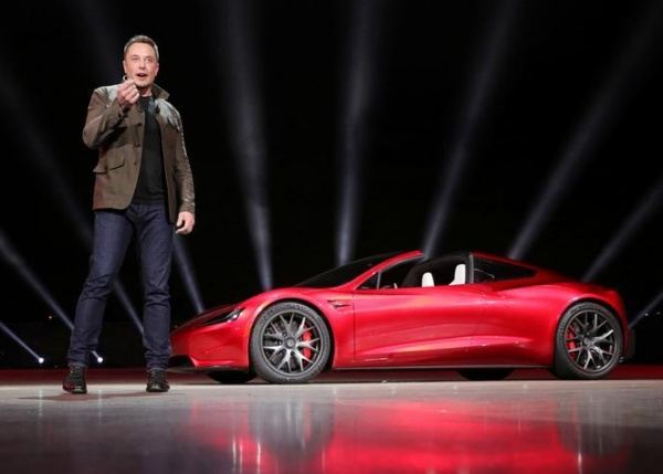 Tesla unveils a truck and 'world's fastest production car'