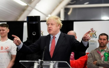 Conservatives' British Prime Minister Boris Johnson speaks after winning his seat of Uxbridge and South Ruislip at the counting centre in Britain's general election in Uxbridge, Britain, December 13, 2019. REUTERS/Toby Melville