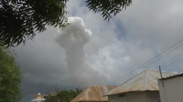 Al Shabaab claims two attacks in Somalia, which killed eight people. Rough cut (no reporter narration).
