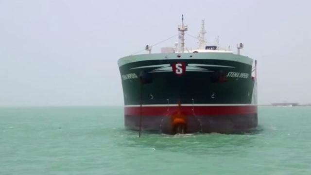 "Iran said on Saturday it seized a British-flagged oil tanker because it was involved in an accident, but Britain's foreign minister said he feared Tehran was taking ""a dangerous path"" and other major European powers expressed alarm. Rough cut (no reporter narration)."