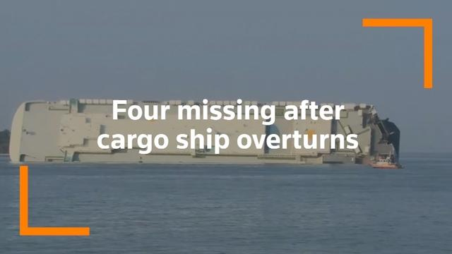 Rescue and recovery efforts are continuing in St. Simon's Sound, Georgia after a cargo ship carrying vehicles overturned early Sunday morning.