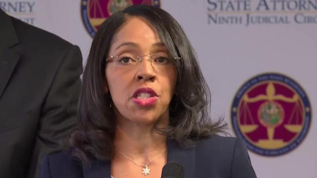 Florida State Attorney Aramis Ayala held a news conference following the suspension of a police officer who arrested two 6-year-olds for separate disciplinary incidents at their school. Rough Cut (no reporter narration).