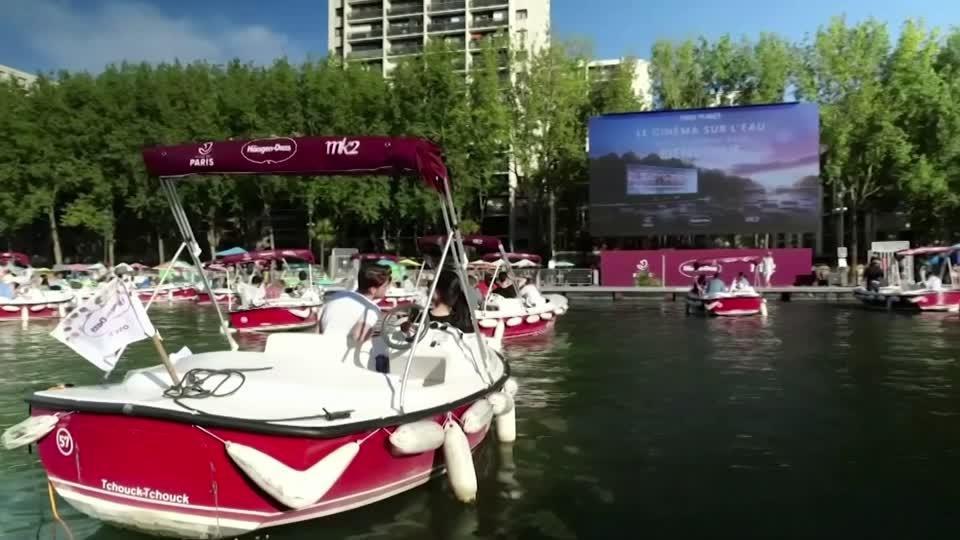 Paris Turns The Seine River Into Open Air Cinema Reuters Video