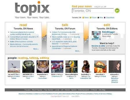Topix Taps Citizen Reporters Reuters