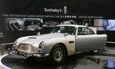James Bond S Aston Martin Car Sells For 4 6 Million Reuters