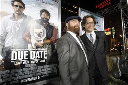 A Minute With Downey Jr Galifianakis About Due Date Reuters