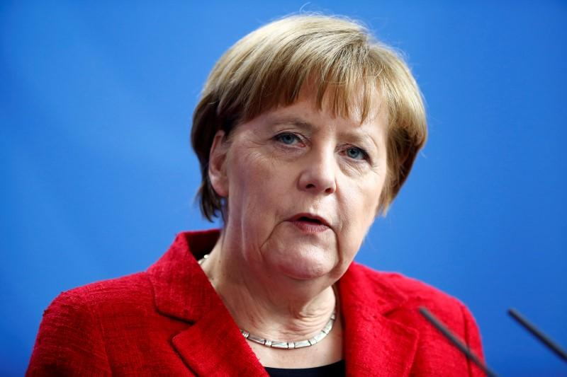 German Chancellor Angela Merkel Speaks Out Against Anti-Semitic Demonstrators