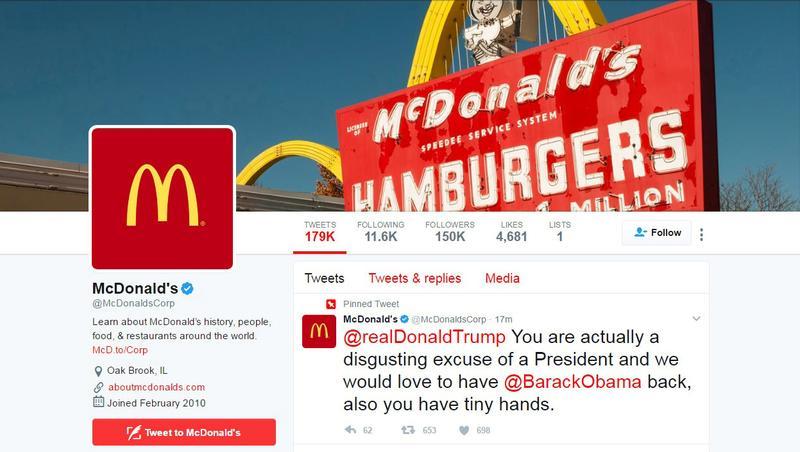 Mcdonald S Deletes Trump Tweet Says Twitter Account Compromised Reuters