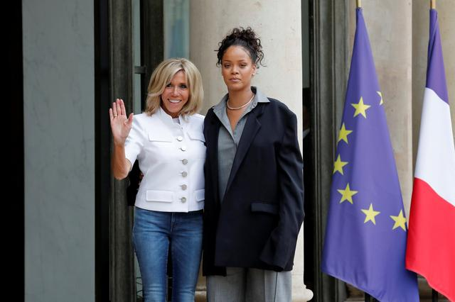 Rihanna Meets French President Macron To Address Education Goals