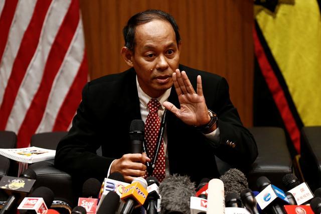 Malaysian Anti-Corruption Commission (MACC) Chief Commissioner Mohd Shukri  Abdull speaks during a