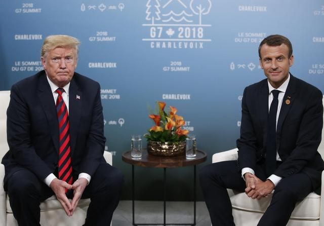 Trump Macron Cool Down The Buddy Act At Canada S G7