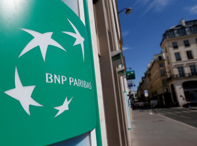 FILE PHOTO A BNP Paribas Logo Is Seen Outside Bank Office In Paris