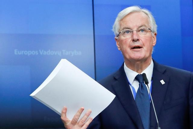El negociador principal para el Brexit de la Unión Europea, Michel Barnier, durante una conferencia de prensa tras la cumbre de líderes de la UE para acordar y formalizar el acuerdo del Brexit en Bruselas, Bélgica. 25 de noviembre de 2018. REUTERS/Yves Herman