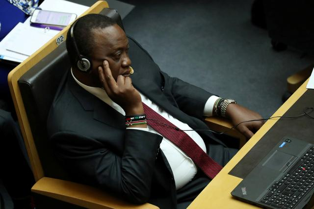 7692d853f FILE PHOTO  Kenya s President Uhuru Kenyatta attends the opening of the  32nd Ordinary Session of