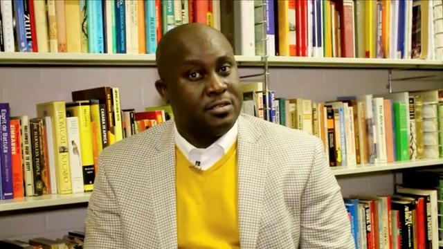 Professor Pius Adesanmi, Director of The Institute of African Studies speaks about the department at the Carleton University in Ottawa, Canada in this still image taken from a video uploaded February 29, 2016. CARLETON UNIVERSITY via REUTERS