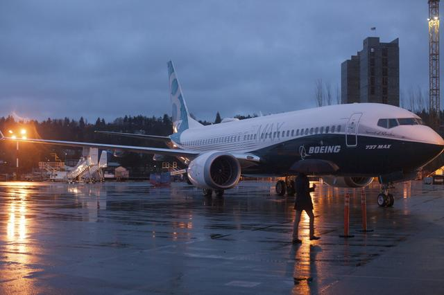 FILE PHOTO: A Boeing 737 MAX sits outside the hangar during a media tour of the Boeing 737 MAX at the Boeing plant in Renton, Washington December 8, 2015. REUTERS/Matt Mills McKnight