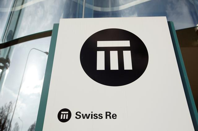 FILE PHOTO: The logo of insurance company Swiss Re is seen in front of its headquarters in Zurich, Switzerland February 12, 2019.  REUTERS/Arnd WIegmann/File Photo
