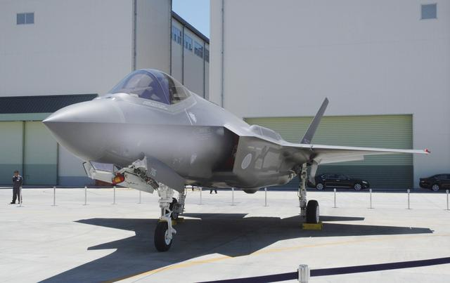A Japan Air Self-Defense Force's F-35A stealth fighter jet, which Kyodo says is the same plane that crashed during an exercise on April 9, 2019, is seen at the Mitsubishi Heavy Industries Komaki Minami factory in Toyoyama, Aichi Prefecture, Japan, in this photo taken by Kyodo June 2017. Mandatory credit Kyodo/via REUTERS