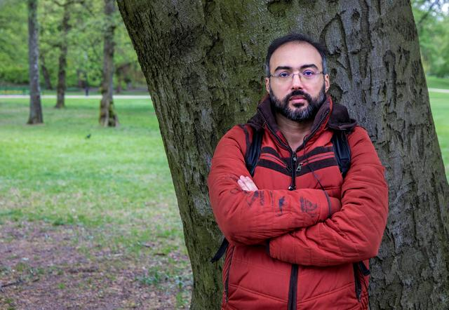 Author and blogger Iyad el-Baghdadi poses for a photo, as he says he is under protection custody in Norway, after the CIA warned him of being threatened by Saudi Arabia, in Oslo, Norway. May 7, 2019. Picture taken May 7.  Ole Berg-Rusten/ NTB Scanpix/via REUTERS