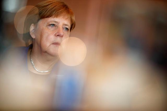 German Chancellor Angela Merkel attends the weekly cabinet meeting at the Chancellery in Berlin, Germany May 15, 2019. REUTERS/Hannibal Hanschke