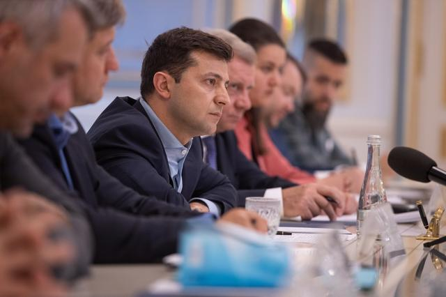 President of Ukraine Volodymyr Zelenskiy attends a meeting with representatives of the International Monetary Fund in Kiev, Ukraine May 28, 2019. Ukrainian Presidential Press Service/Handout via REUTERS