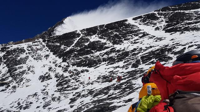 FILE PHOTO: A view shows Nick Hollis's ascent of the south side of Everest in Nepal, May 20, 2019 in this picture obtained by Reuters June 6, 2019. Nick Hollis/via REUTERS