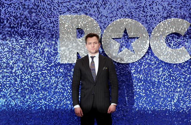 FILE PHOTO: Cast member Taron Egerton attends the UK premiere of the Elton John biopic 'Rocketman' in London, Britain, May 20, 2019. REUTERS/Simon Dawson/File Photo